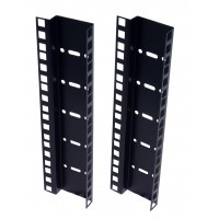 6U DOUBLE HOLE RACK STRIP PAIR