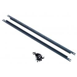 19 inch 5U mounting rail bars for 5U modules with 40 black M4 screws