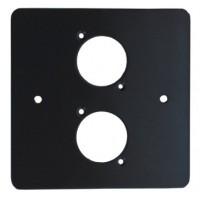 2 WAY XLR BLACK SINGLE GANG FACE PLATE STEEL