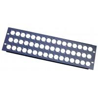 3U 48 XLR 'D' rack folded panel