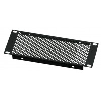 2U 10.5 inch Half-Rack Perforated Vented Blank Panel