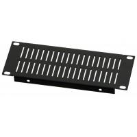 2U 10.5 inch Half-Rack Slotted Vented Blank Panel