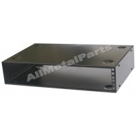 19 inch 2U WALL MOUNTED or STACKABLE RACK CABINET 300mm CASE WITH WALL FIXING PLATE