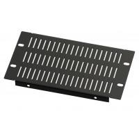 3U 10.5 inch Half-Rack Slotted Vented Blank Panel
