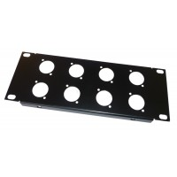 2U 9.5 inch Half-Rack 8 XLR Hole Panel