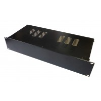 2U 19 inch 200mm rack mount vented enclosure chassis case