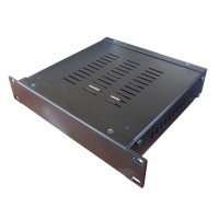 1U 9.5 inch rack mount 200mm vented enclosure chassis case