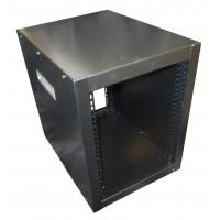"""8u 10.5"""" Half Rack cabinet 435mm deep with handles"""