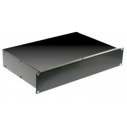 2U 19 inch 390mm rack mount non vented enclosure chassis case