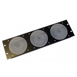 3U Fan Rack Panel, For 3 Fans.